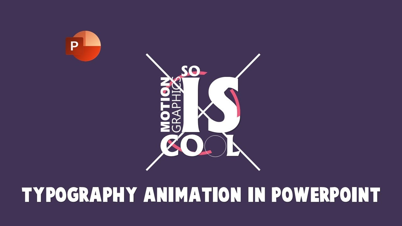 kinetic typography and motion graphics animation in powerpoint, Modern powerpoint