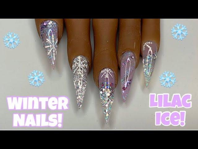 Iced Lilac Winter Acrylic Nails | Nail Sugar | Nailchemy Genesis