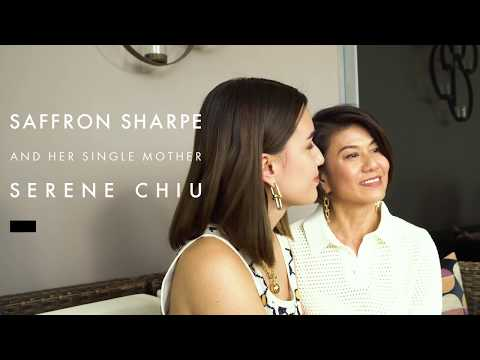 Meet Saffron Sharpe & Her Inspiring Single Mother, Serene Chiu