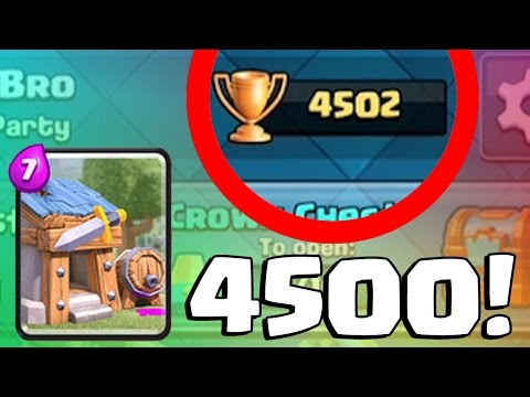 WORST PLAYER EVER GETS TO 4500 TROPHIES | Clash Royale