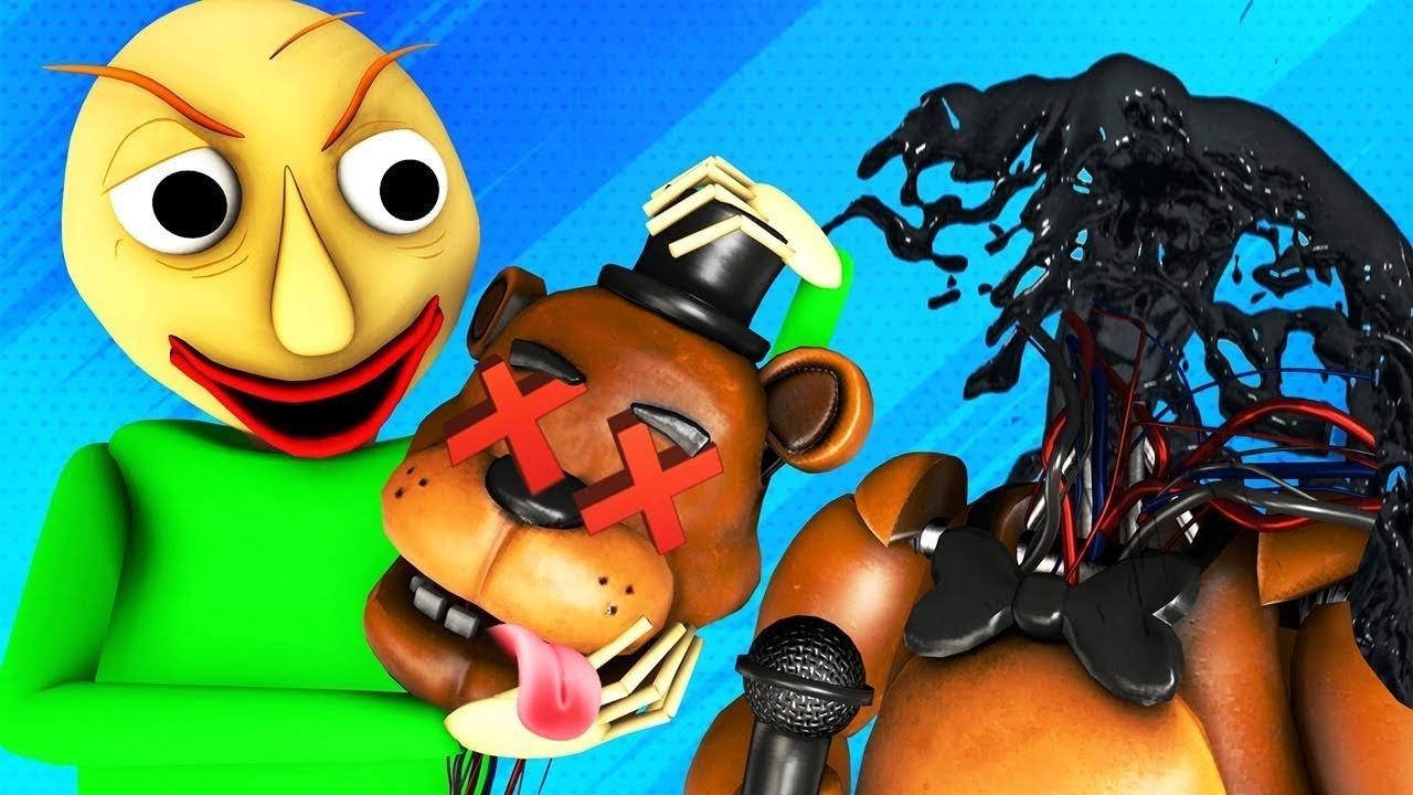 Baldi vs FNAF 3: Un Chico De Traje (Español Five Nights at Freddy's Parodia Animada Terror 3D)