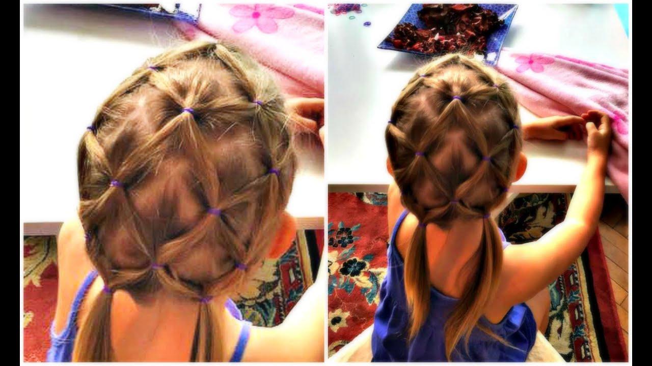 hair net tutorial for children - fantasy hairstyle for kids - youtube