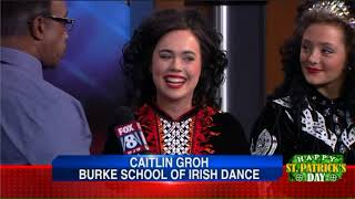 Morning Show Anchors Learn Irish Jig from Burke School of Irish Dance