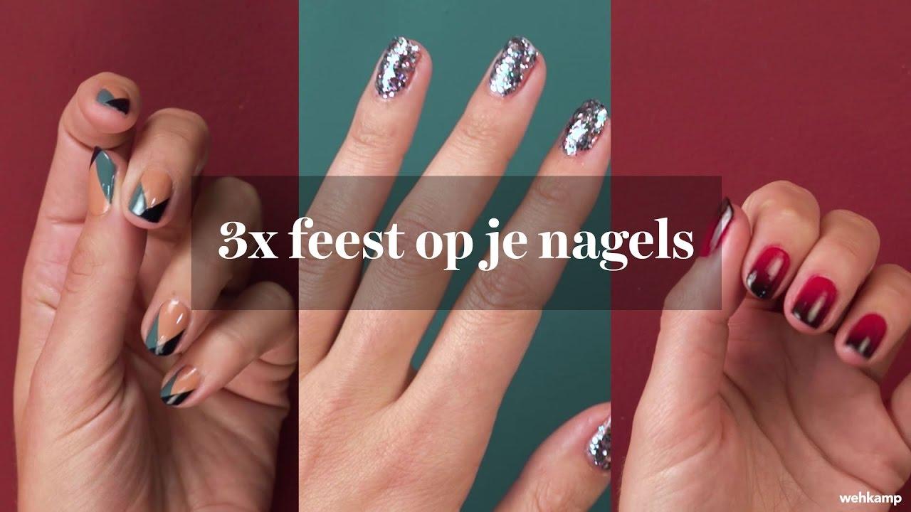 Verwonderlijk 3X feest op je nagels - stap voor stap - YouTube SH-15