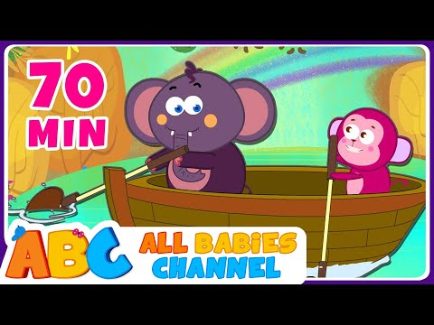 Row Row Row Your Boat  Nursery Rhymes Collection and Ba Songs  All Babies Channel