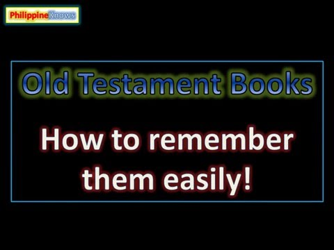 Books of the Old Testament: How to Remember Them Easily!