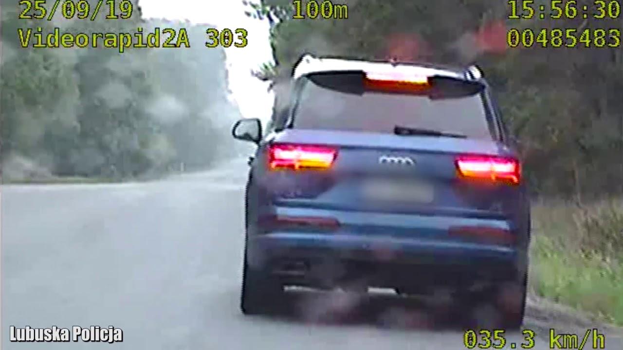 Pędził Audi Q7 ponad 200km/h został zatrzymany przez policję z grupy
