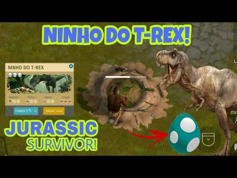 FUI NO NINHO DO T-REX, CONSEGUI O ITEM RARO! O INICIO! JURASSIC SURVIVOR!