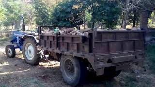 अवैध खनन माफियाऒ के खिलाफ कार्यवाही दो ट्रकटर ट्राली सहित जब्त  