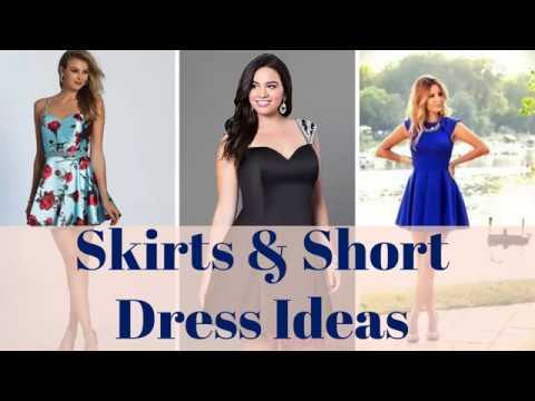 skirt-dresses,-short-dresses---100+-skirt-outfits,-short-outfit-ideas-2019