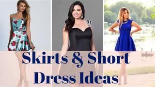 Skirt Dresses, Short Dresses - 100+ Skirt Outfits, Short Outfit Ideas 2019
