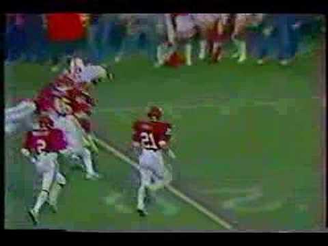 Turner Gill's 40 yard run vs Oklahoma in 1983