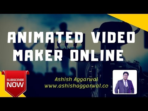 How To Create Animated Video Online For Free || Best Animation Software \ Ashish Agarwal