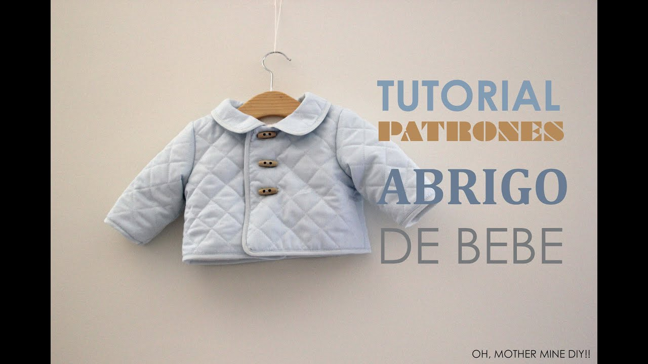 DIY Tutorial Abrigo de Bebe (Patrones gratis) - YouTube