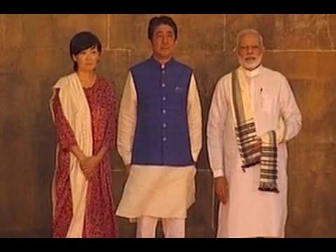 PM Modi, Japanese PM Shinzo Abe and his wife Akie Abe at