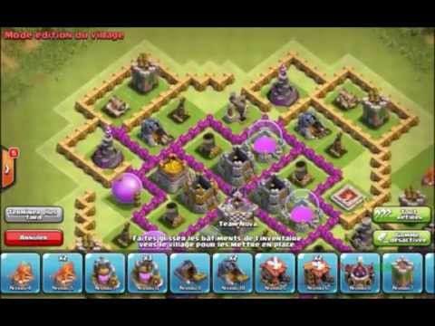 Clash of clan Village farm hdv 9 sans arc x et reine des archer
