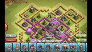 Clash of clan Village farm hdv 9 sans arc x et reine des archer