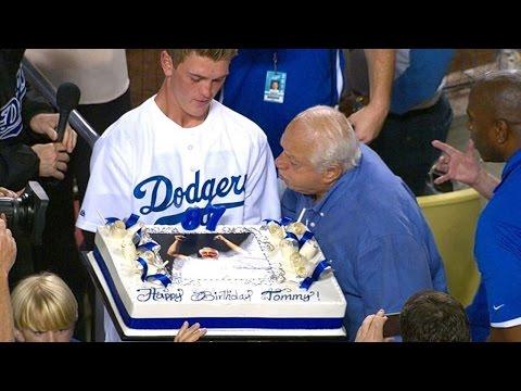 Dodgers celebrate Lasorda's birthday