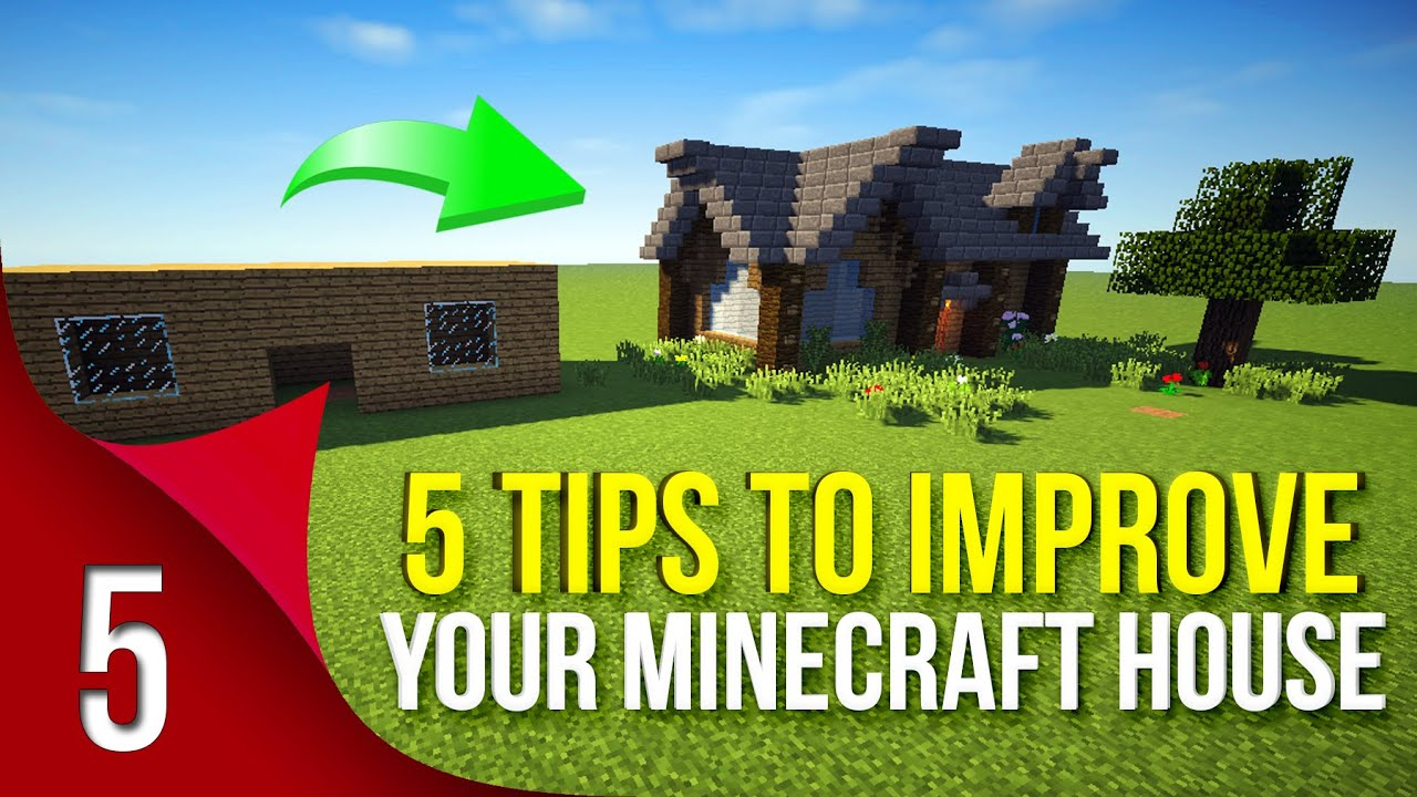 5 easy steps to improve your minecraft house - youtube