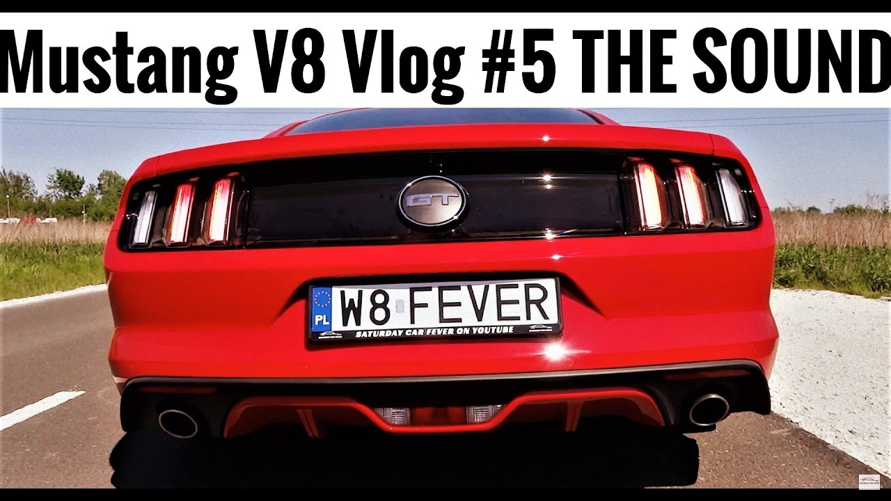 2017 Mustang GT V8 Vlog #5 STOCK EXHAUST SOUND Drive By Revs Acceleration