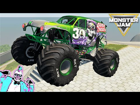 Monster Jam Steel Titans 2 and BeamNG Drive Freestyle, Racing and Crashes #2 |