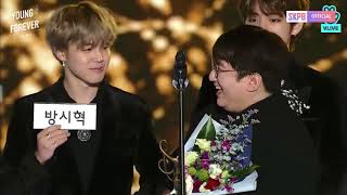 [VIETSUB] 180125 Bang Shi Hyuk (방시혁) - Producer of the Year @ 27th High1 Seoul Music Awards (ft BTS)