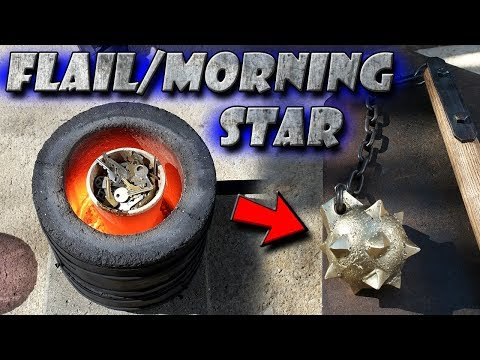 Casting a Flail/Morning Star Out of Brass Keys Start to Finish