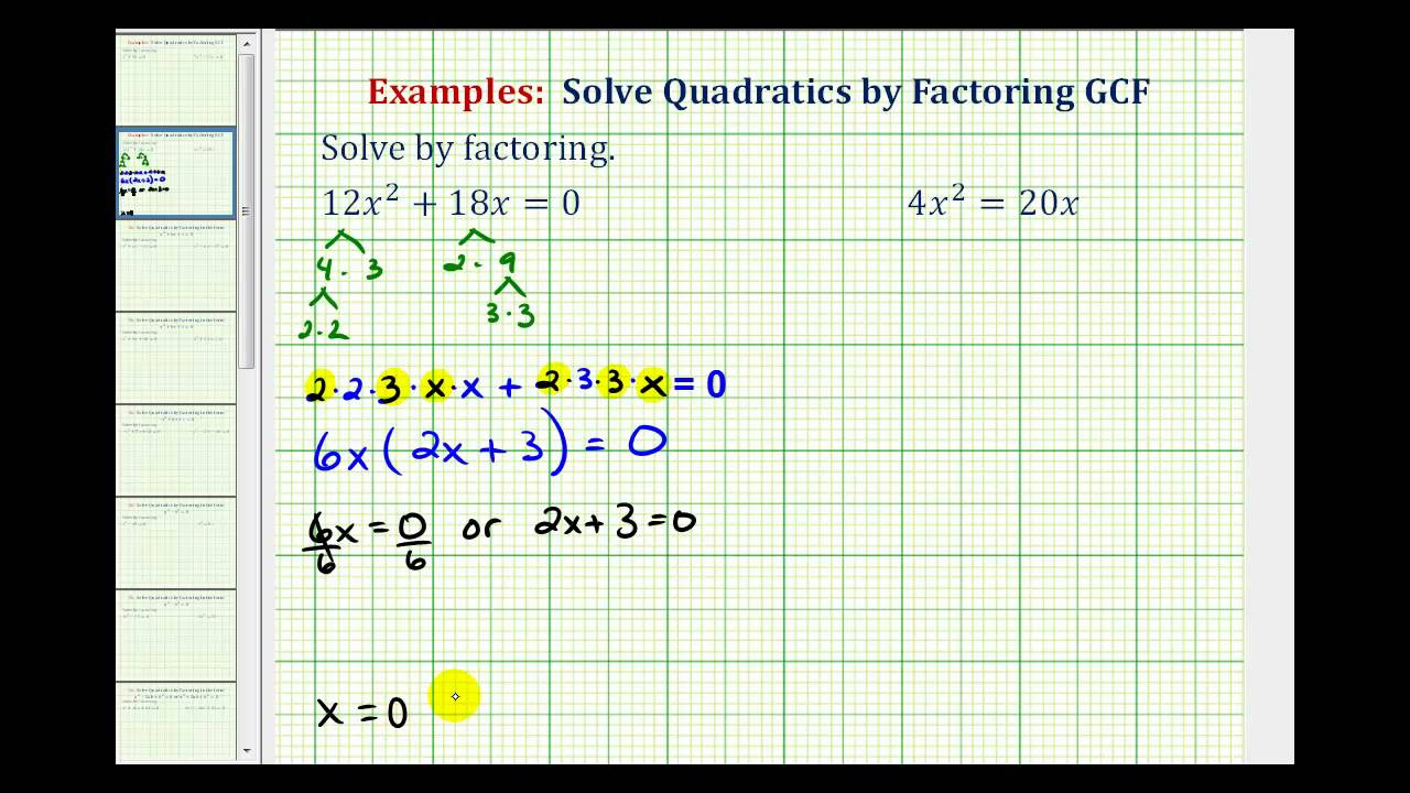 Solving problems with quadratic equations
