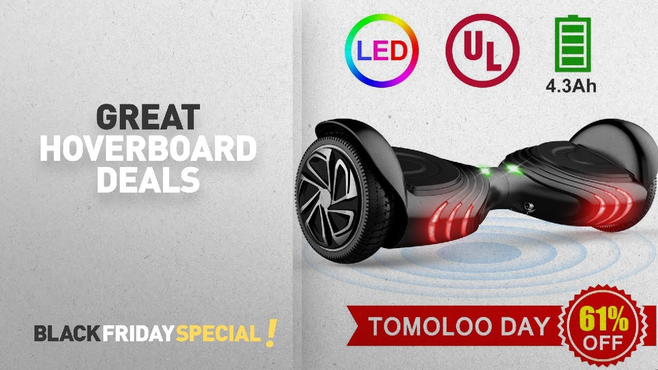 black friday hoverboard deals tomoloo hoverboard with led light two wheel self balancing. Black Bedroom Furniture Sets. Home Design Ideas