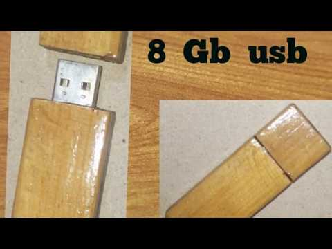 Homemade wooden usb