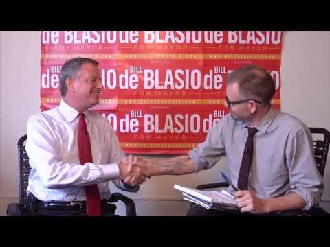 Here TV For and Against: Interview with Bill de Blasio, 2013 NYC Mayoral Candidate