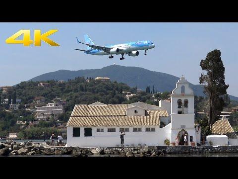 [4K] Corfu Airport landings | Awesome Plane Spotting | Approach to CFU | 14.08.2015