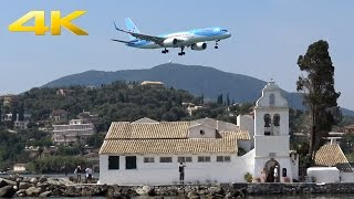 [4K] Corfu Airport landings | Awesome Plane Spotting | Approach to CFU | 14.08.2015(Plane Spotting at the awesome Corfu Airport on 14.08.15. Approach and landings in a really nice scenery. Enjoy the Approach nearby the village of Kanoni over ..., 2015-08-23T17:06:31.000Z)