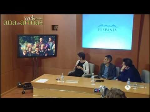 Ana de Armas. Rueda de prensa de Hispania (Antena 3 Noticias 1)