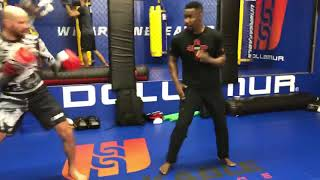 Michael Jai White Training with UFC Fighter Ben Saunders