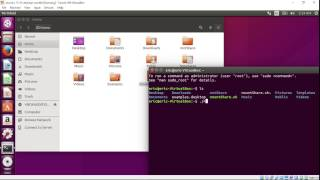 Create shared folder to VirtualBox, share between guest Ubuntu and host Windows
