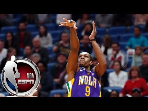 Rajon Rondo goes off for four 3-pointers late in 2nd quarter of Jazz-Pelicans | ESPN