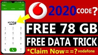 Vodafone Free Internet Trick 2020  Vodafone Free 78 GB Data  Vodafone Free Data Code  Claim Now