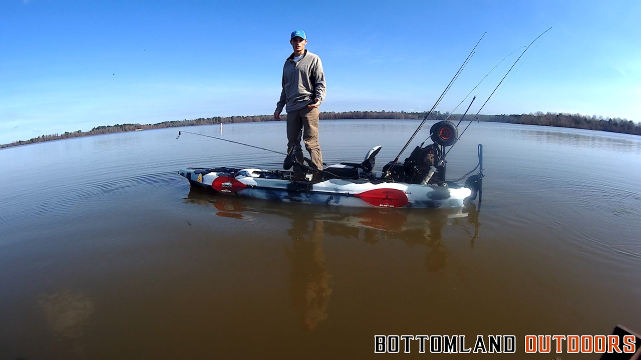 Field stream shadow caster trolling motor mod and review for Field and stream fishing kayak