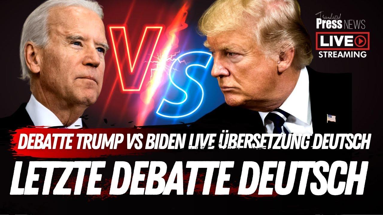 Debatte 2020 Trump VS Biden Deutsch - Live aus Nashville