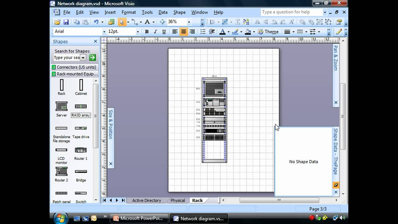 medium resolution of creating rack diagrams using visio youtube network wiring diagram cat6a 66 punch down wiring guide
