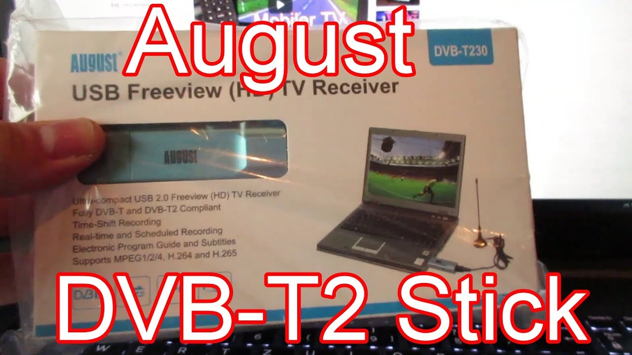 unboxing test vom august dvb t2 stick dvb t230 f r tv am. Black Bedroom Furniture Sets. Home Design Ideas