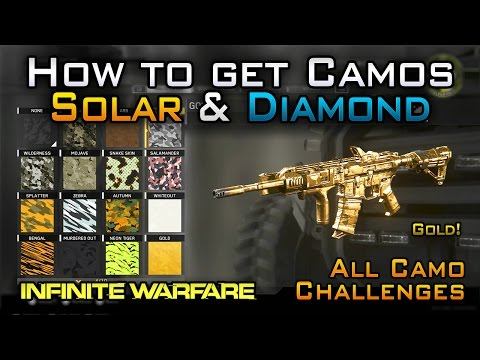 How To Get SOLAR, DIAMOND & GOLD CAMO in Infinite Warfare! (+ All Other Camo Challenges & Black Sky)