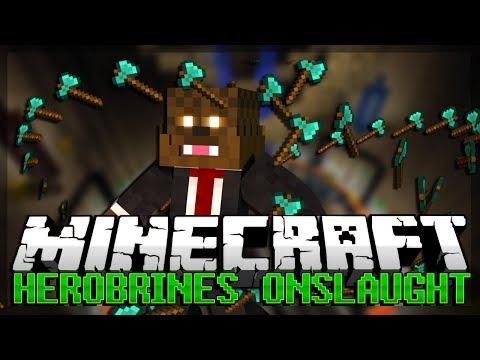 Minecraft HEROBRINES ONSLAUGHT PVP Minigame w/ Vikkstar