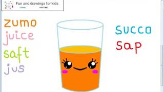 Як намаляваць кава апельсінавы сок з песняй і моў