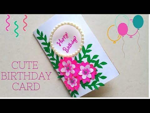 DIY Beautiful & Cute Flower Greeting Card | How to Make Birthday Card