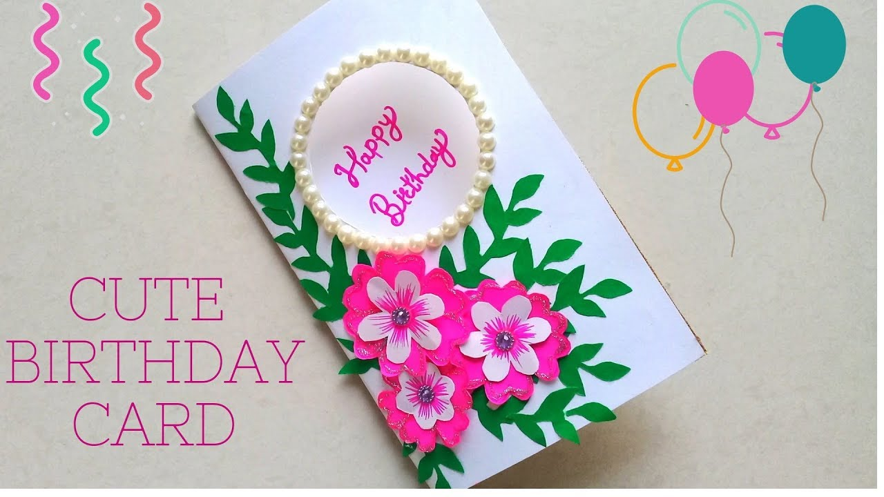 Diy Beautiful Cute Flower Greeting Card How To Make Birthday