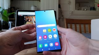 Samsung Galaxy Note 10+ Blue Theme Review!