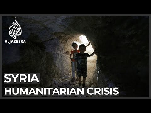 Al Jazeera English: Syrians fleeing attacks in Idlib find shelter in caves
