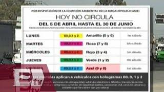 El calendario vehicular con las nuevas modificaciones al Hoy No Circula/ Vianey Esquinca